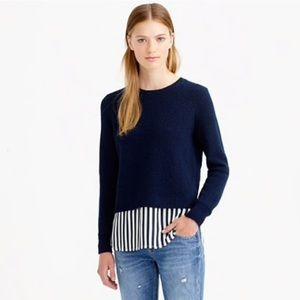 J.Crew Lambswool Shirttail Sweater In Stripe
